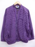 古着 レディース ジャケット 90年代 スタンドカラー シルク 紫 パープル 【spe】 19aug27 中古 アウター ジャンパー ブルゾン