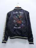古着 レディース ジャケット スカジャン アヴィレックス JAPAN 黒 ブラック 19sep04 中古 アウター ジャンパー ブルゾン