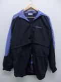 古着 レディース ナイロン ジャケット 90年代 リーボック REEBOK ロゴ 大きいサイズ 黒 ブラック 19sep06 中古 アウター ウインドブレーカー