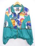 古着 レディース 長袖 ナイロン ジャケット 太陽 大きいサイズ 緑 グリーン 19sep13 中古 アウター ウインドブレーカー