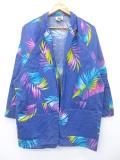 古着 レディース 長袖 ジャケット 80年代 葉 USA製 紺 ネイビー 【spe】 19sep13 中古 アウター ジャンパー ブルゾン