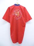 古着 レディース 7分袖 ガウン 羽織 80年代 ドラゴン 龍 刺繍 ロング丈 赤 レッド 19sep13 中古 アウター