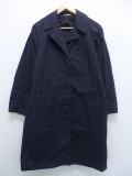 古着 レディース 長袖 ビンテージ ミリタリー ステンカラー コート 70年代 ロング丈 黒 ブラック 【spe】 19sep16 中古 アウター