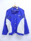 古着 レディース 長袖 ブランド ナイロン ジャケット 90年代 リーボック REEBOK ワンポイントロゴ ツートンカラー 青 ブルー 【spe】 19oct03 中古 アウター ウインドブレーカー