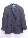 古着 レディース 長袖 ブランド ジャケット 90年代 クリスチャンディオール Christian Dior ウール USA製 緑他 グリーン 19oct09 中古 アウター ジャンパー ブルゾン