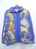 古着 レディース 長袖 ジャケット 90年代 花 乗馬 スタッズ シルク 大きいサイズ 薄紺 ネイビー 19oct24 中古 アウター ジャンパー ブルゾン