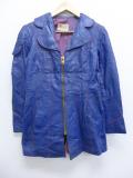 古着 レディース 長袖 ビンテージ レザー ジャケット 70年代 70s タロン USA製 青 ブルー 【spe】 19nov11 中古 アウター 革ジャン 皮ジャン