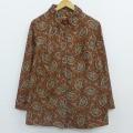 古着 レディース 長袖 ジャケット 80年代 80s ペイズリー 花 大きいサイズ オレンジ 20mar03 中古 アウター ジャンパー ブルゾン
