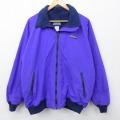 古着 長袖 ナイロン ジャケット 90年代 90s ランズエンド 内側フリース USA製 紫 パープル 21jan07 中古 アウター ウインドブレーカー