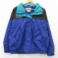 古着 レディース 長袖 ナイロン ジャケット 00年代 00s コロンビア COLUMBIA ワンポイントロゴ 大きいサイズ 青紫他 21feb10 中古 アウター ウインドブレーカー