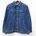 古着 レディース 長袖 ジージャン 80年代 80s リー Lee コットン USA製 紺 ネイビー デニム 21mar22 中古 アウター Gジャン ジャケット