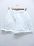 古着 レディース ショート パンツ 90年代 ラルフローレン Ralph Lauren ロゴ USA製 タロン 白 ホワイト 19aug23 中古 ボトムス 短パン ショーパン ハーフ