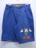 古着 レディース ハーフ パンツ ショーツ 90年代 ディズニー DISNEY ミッキー MICKEY MOUSE USA製 タロン デニム 19aug23 中古 ボトムス
