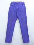 古着 レディース ジーンズ 90年代 ラングラー Wrangler コットン USA製 紫 パープル デニム 19sep11 中古 ボトムス ジーパン Gパン ロング パンツ