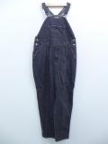 古着 レディース オーバーオール 90年代 STEFANO コットン 大きいサイズ 黒 ブラック デニム 19oct15 中古 ボトムス
