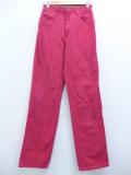 古着 レディース ブランド ジーンズ 90年代 ラングラー Wrangler コットン USA製 赤 レッド デニム 19oct24 中古 ボトムス ジーパン Gパン ロング パンツ