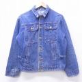 L★古着 長袖 ビンテージ ジージャン 70年代 70s 紺 ネイビー デニム 21feb18 中古 メンズ アウター Gジャン ジャケット