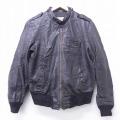 S★古着 長袖 レザー ジャケット 80年代 80s USA製 黒 ブラック 20dec03 中古 メンズ アウター 革ジャン 皮ジャン
