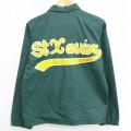 S★古着 長袖 ナイロン ジャケット 80年代 80s StXauies 緑 グリーン 21feb16 中古 メンズ アウター ウインドブレーカー