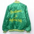 M★古着 長袖 ナイロン ジャケット 90年代 90s カクテルグラス 刺繍 緑 グリーン 21mar01 中古 メンズ アウター ウインドブレーカー