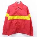 M★古着 長袖 ナイロン ジャケット 80年代 80s USA製 赤他 レッド 21mar31 中古 メンズ アウター ウインドブレーカー
