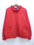 XL★古着 ジャケット スイングトップ 90年代 ラコステ LACOSTE IZOD ロゴ 大きいサイズ 赤 レッド 19aug29 中古 メンズ アウター ジャンパー ブルゾン