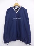 XL★古着 長袖 トップス リーボック REEBOK 刺繍 大きいサイズ 紺 ネイビー 19aug30 中古 メンズ アウター