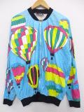 XL★古着 長袖 ペーパー ジャケット 80年代 気球 USA製 水色 19sep16 中古 メンズ アウター ジャンパー ブルゾン