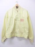 L★古着 長袖 ジャケット 80年代 ミラービール USA製 タロン 薄黄 イエロー 19sep27 中古 メンズ アウター ジャンパー ブルゾン