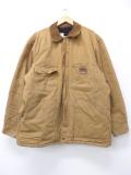 XL★古着 長袖 ジャケット ビッグスミス ダック地 大きいサイズ シンサレート 茶 ブラウン 19nov05 中古 メンズ アウター ジャンパー ブルゾン