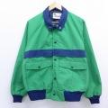 L★古着 長袖 ジャケット 80年代 80s ラグラン USA製 緑 グリーン 19nov12 中古 メンズ アウター ジャンパー ブルゾン