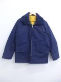 XL★古着 長袖 ジャケット 80年代 80s 襟ボア 紺 ネイビー 19nov11 中古 メンズ アウター ジャンパー ブルゾン