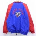 XL★古着 長袖 ジャケット タイガー 刺繍 大きいサイズ 青 ブルー 19dec11 中古 メンズ アウター ジャンパー ブルゾン