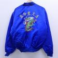 L★古着 長袖 スーベニア ジャケット スカジャン コリア 龍 ドラゴン 刺繍 青 ブルー 19dec12 中古 メンズ アウター ジャンパー ブルゾン