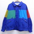XL★古着 長袖 セーリング ジャケット 90年代 90s ロンドンフォグ クレイジーパターン マルチカラー 大きいサイズ 青 ブルー 19dec12 中古 メンズ アウター ジャンパー ブルゾン
