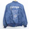 L★古着 長袖 ジャケット 90年代 90s ビール Don スイングトップ USA製 薄紺 ネイビー タイダイ 20mar27 中古 メンズ アウター ジャンパー ブルゾン
