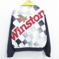 XL★古着 長袖 ジャケット 90年代 90s スイングスター ウィンストン カップ NASCAR USA製 黒他 ブラック 20nov13 中古 メンズ アウター ジャンパー ブルゾン