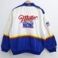 XL★古着 長袖 レーシング ジャケット 00年代 00s ミラーライト NASCAR スタンドカラー コットン 大きいサイズ 白他 ホワイト 20dec14 中古 メンズ アウター ジャンパー ブルゾン