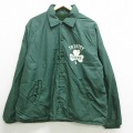 XL★古着 長袖 ジャケット 90年代 90s チャンピオン champion TRINITY クローバー ラグラン USA製 緑 グリーン 内側ボア 21feb25 中古 メンズ アウター ジャンパー ブルゾン