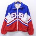 M★古着 長袖 ジャケット 90年代 90s EHS USA製 青他 ブルー 21feb26 中古 メンズ アウター ジャンパー ブルゾン