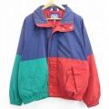 XL★古着 長袖 ジャケット 90年代 90s 大きいサイズ マルチカラー 紺他 ネイビー 21mar13 中古 メンズ アウター ジャンパー ブルゾン