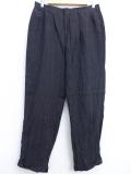 W34★古着 ブランド スラックス パンツ 90年代 ラルフローレン Ralph Lauren タロン リネン USA製 黒 ブラック 19oct28 中古 メンズ ボトムス ロング