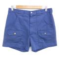 W33★古着 ブッシュ ショート パンツ ショーツ 90年代 90s ランズエンド 紺 ネイビー 20apr10 中古 メンズ ボトムス 短パン ショーパン ハーフ