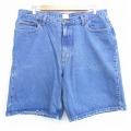W38★古着 ショート パンツ ショーツ カルバンクライン Calvin Klein 大きいサイズ コットン 紺 ネイビー デニム 20apr24 中古 メンズ ボトムス 短パン ショーパン ハーフ