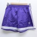 W30★古着 ショート パンツ ショーツ 90年代 90s アディダス adidas ワンポイントロゴ USA製 紫 パープル 3本ライン 20aug03 中古 メンズ ボトムス 短パン ショーパン ハーフ