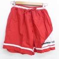 W29★古着 トレーニング ショート パンツ ショーツ 90年代 90s アンブロ ワンポイントロゴ USA製 赤 レッド 21apr28 中古 メンズ ボトムス 短パン ショーパン ハーフ