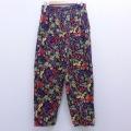 W35★古着 イージー パンツ 90年代 90s イチゴ他 コットン USA製 黒 ブラック 20mar12 中古 メンズ ボトムス ロング