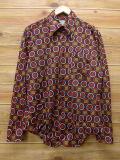 L★古着 長袖 シャツ 70年代 Kマート 黒 ブラック 18mar07 中古 メンズ トップス