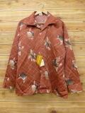 XL★古着 長袖 シャツ 70年代 デッドストック 大きいサイズ 茶系 ブラウン 【spe】 18jun08 中古 メンズ トップス
