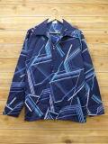 XL★古着 長袖 シャツ 70年代 大きいサイズ 紺 ネイビー 18jun08 中古 メンズ トップス